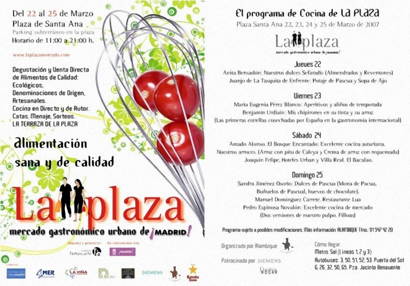 La Plaza, el Mercado Gastronómico Urbano de Madrid