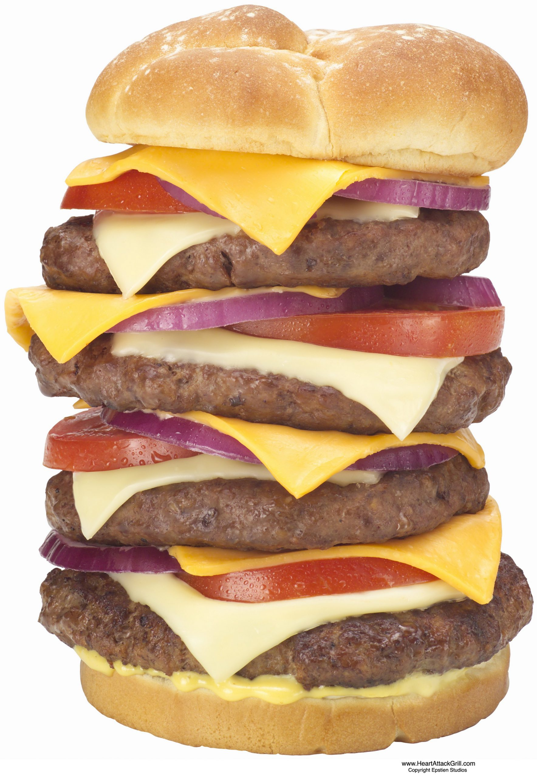Hamburguesa quadruple Bypass del Heart Attack Grill (1)