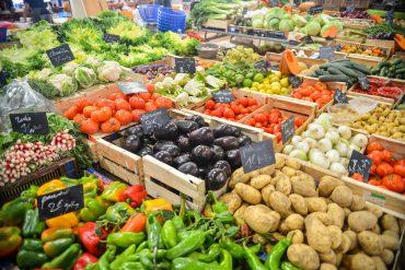 Vegetales verduras mercado