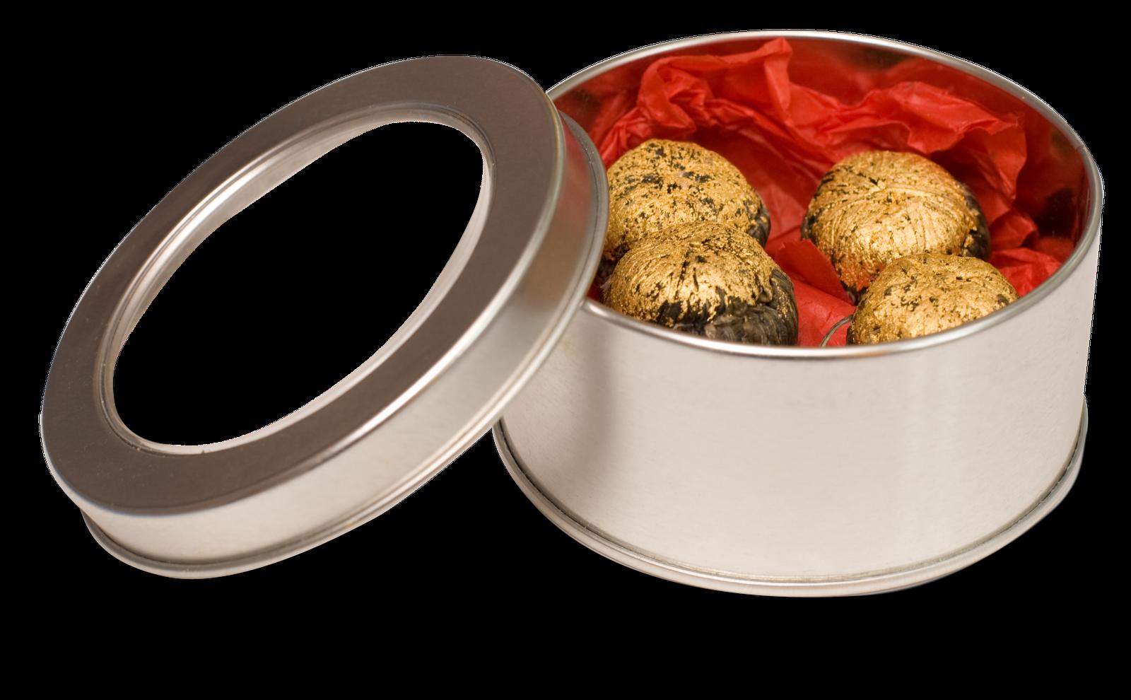 Caja de Bombones DeLafee - chocolate suizo y oro
