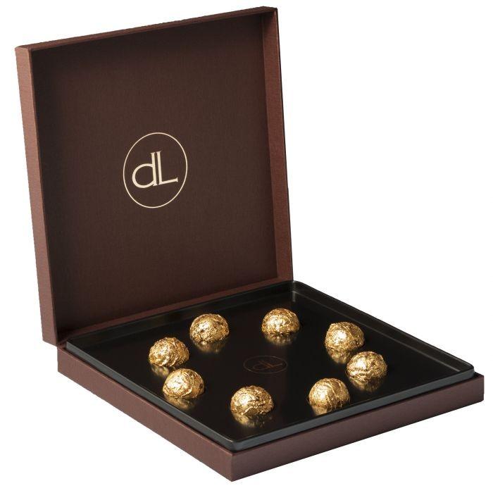 Bombones DeLafee - chocolate suizo y oro