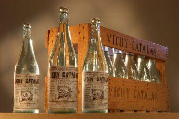 Vichy Catalán botellas en los años 40