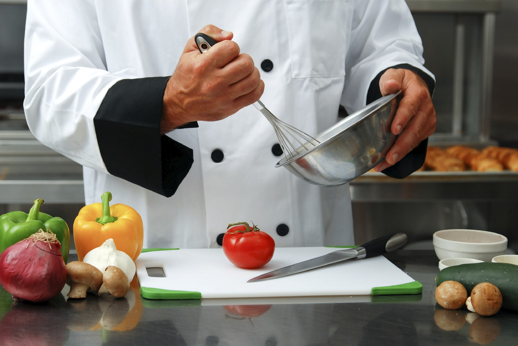 Cocinero trabajando