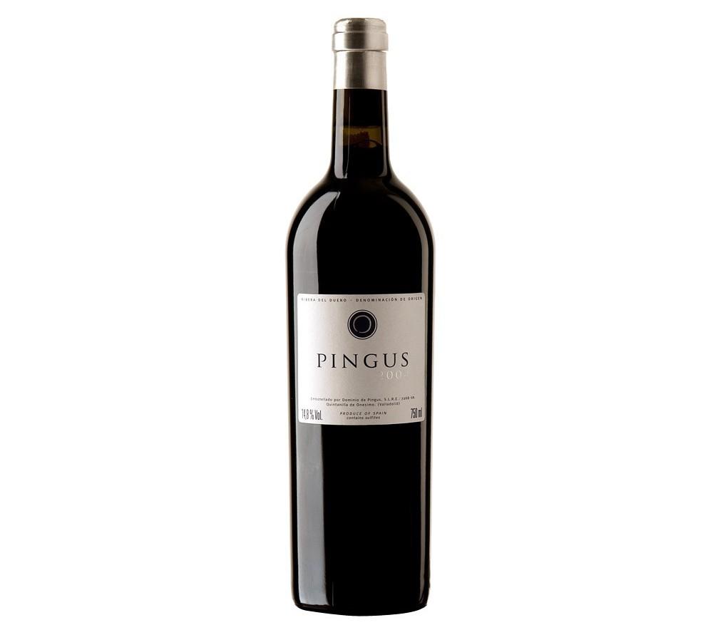 Botella de vino Pingus 2004