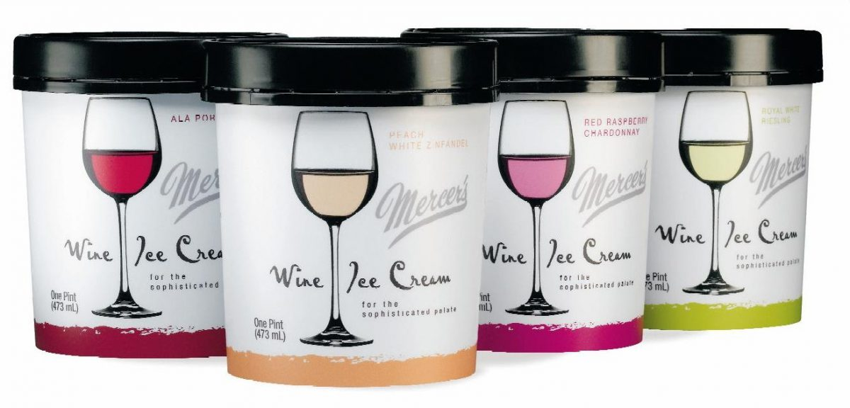 Mercer's Helado de vino