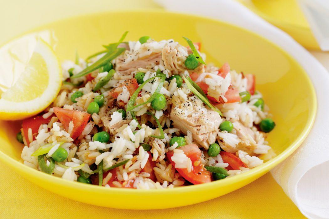 Arroz con atun y verduras