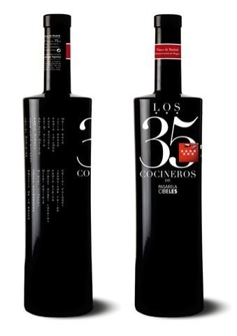Botella de vino de los 35 cocineros de Pasarela Cibeles