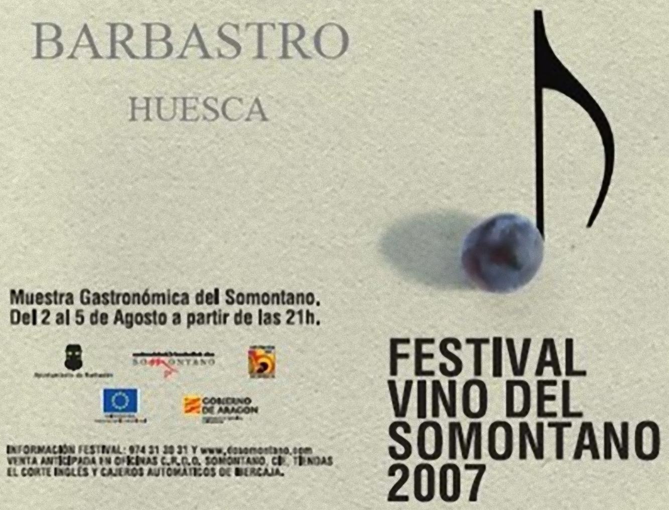 Festival Vino del Somontano 2007