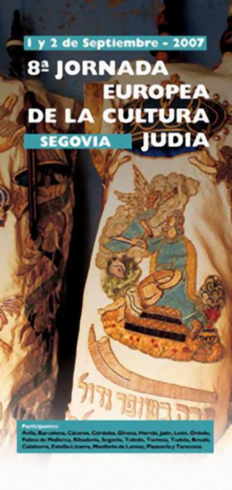 Cartel de las Jornadas de la cultura Judía en Segovia