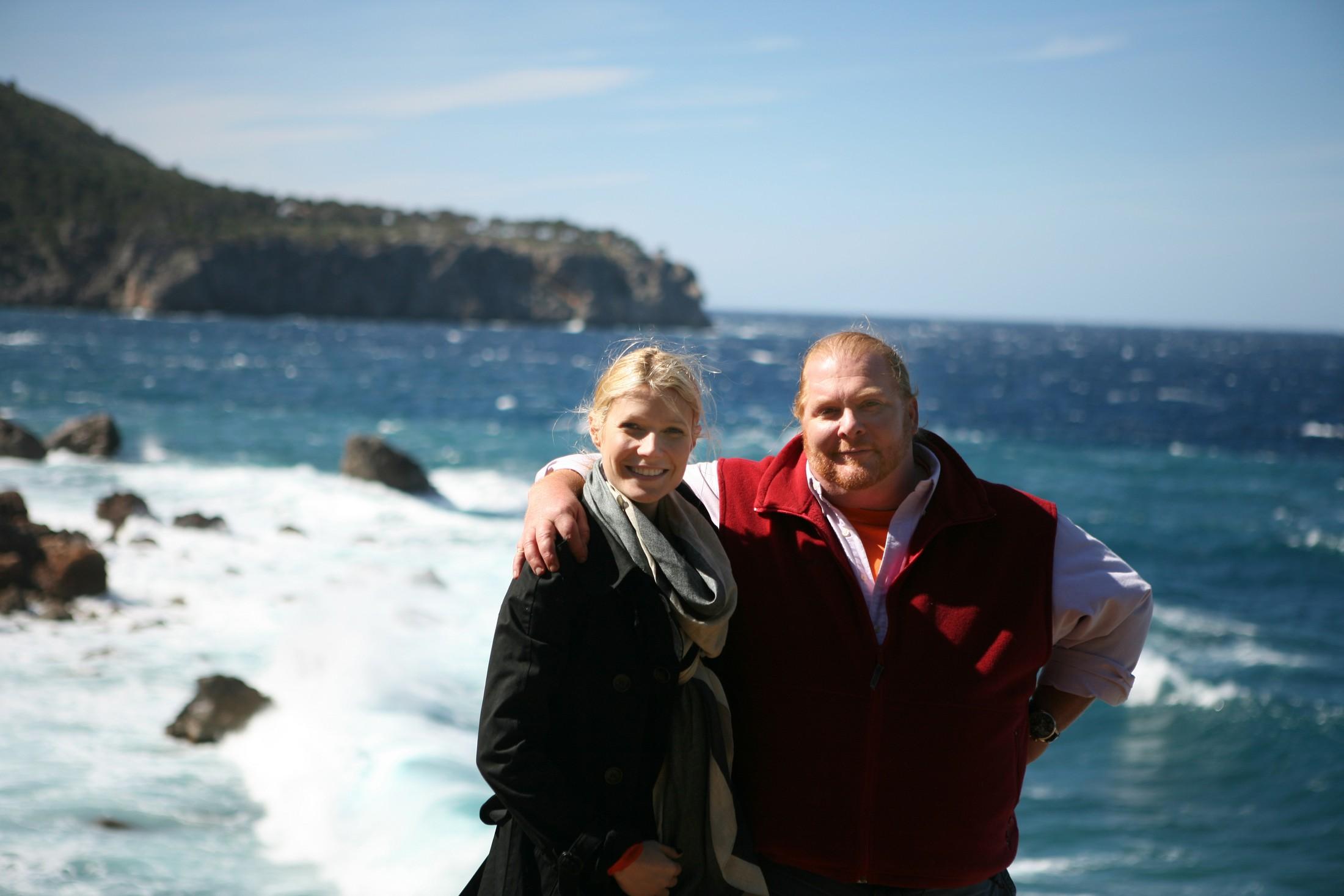 Gwyneth and Mario on the Mediterranean coast of Mallorca