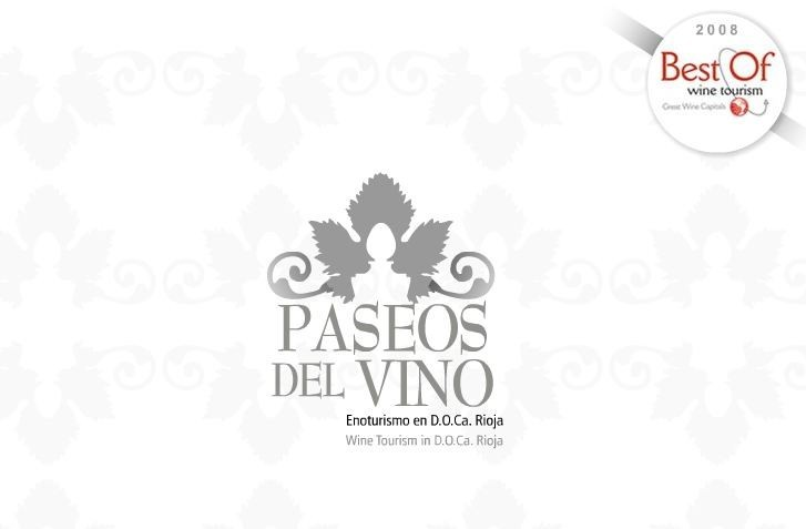 Portada de la WEB de Paseos del vino en La Rioja