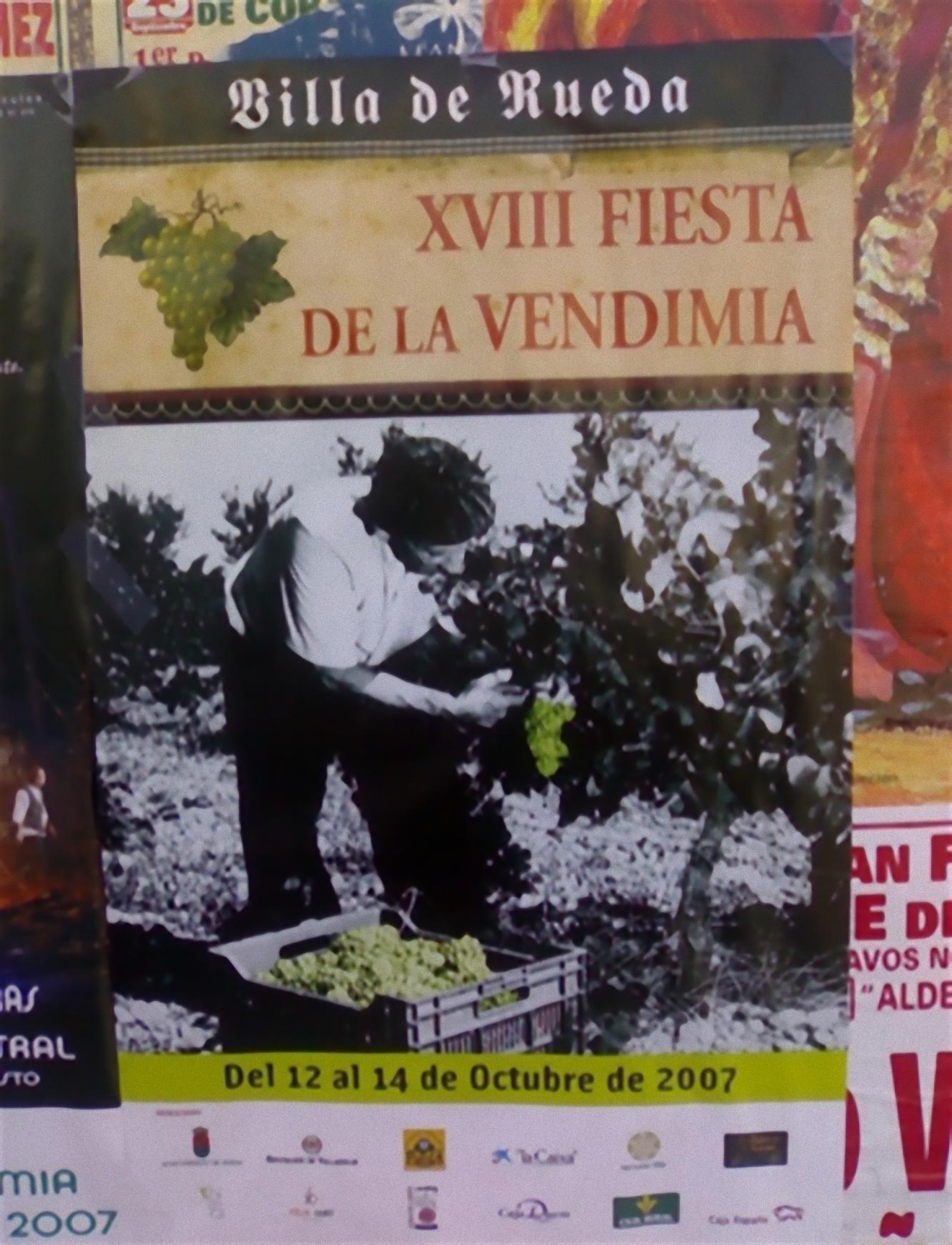 Cartel de la XVIII Fiesta de la Vendimia D.O.Rueda
