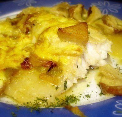 Receta de Lubina con capa de boletus y mayonesa