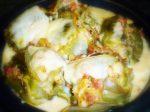Alcachofas gratinadas con beicon y queso