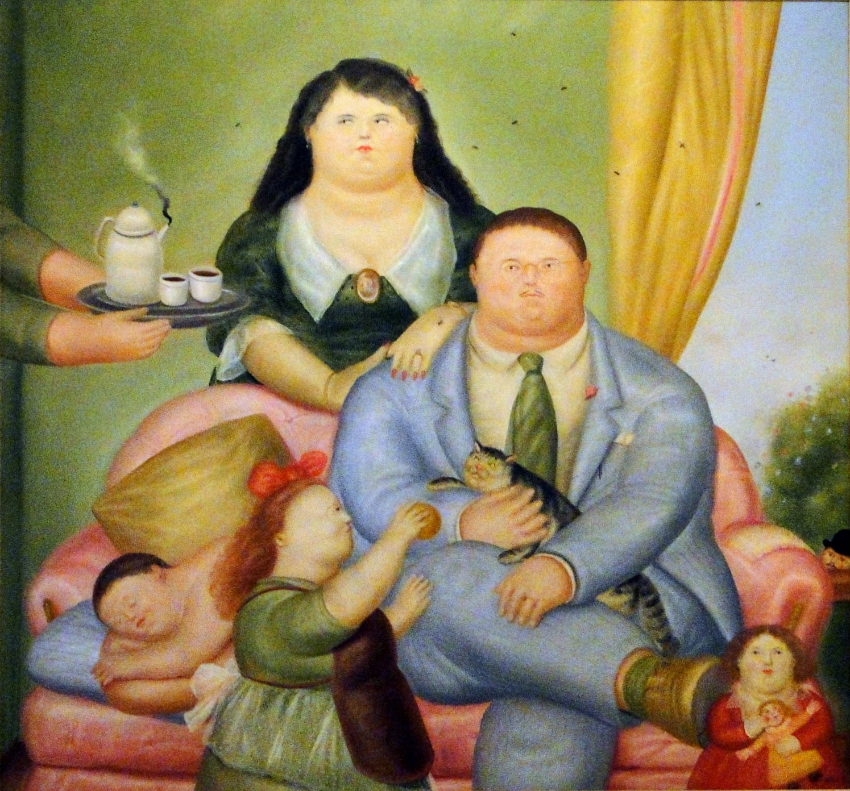 la familia colombiana fernando botero 1973