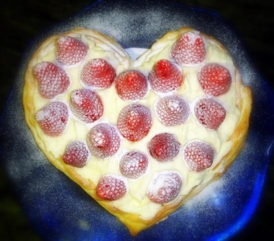 Hojaldre de fresas con crema de mascarpone
