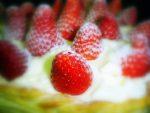 Tarta de fresas con crema de mascarpone