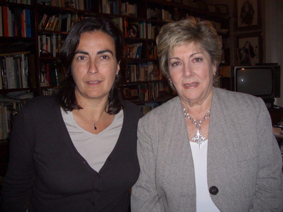Eva Celada con Paloma Gomez Borrero