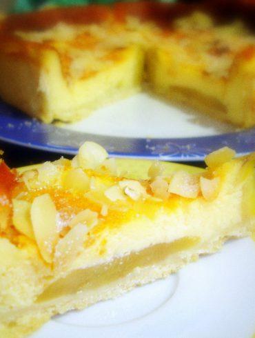 Tarta de frutas con queso de cabra