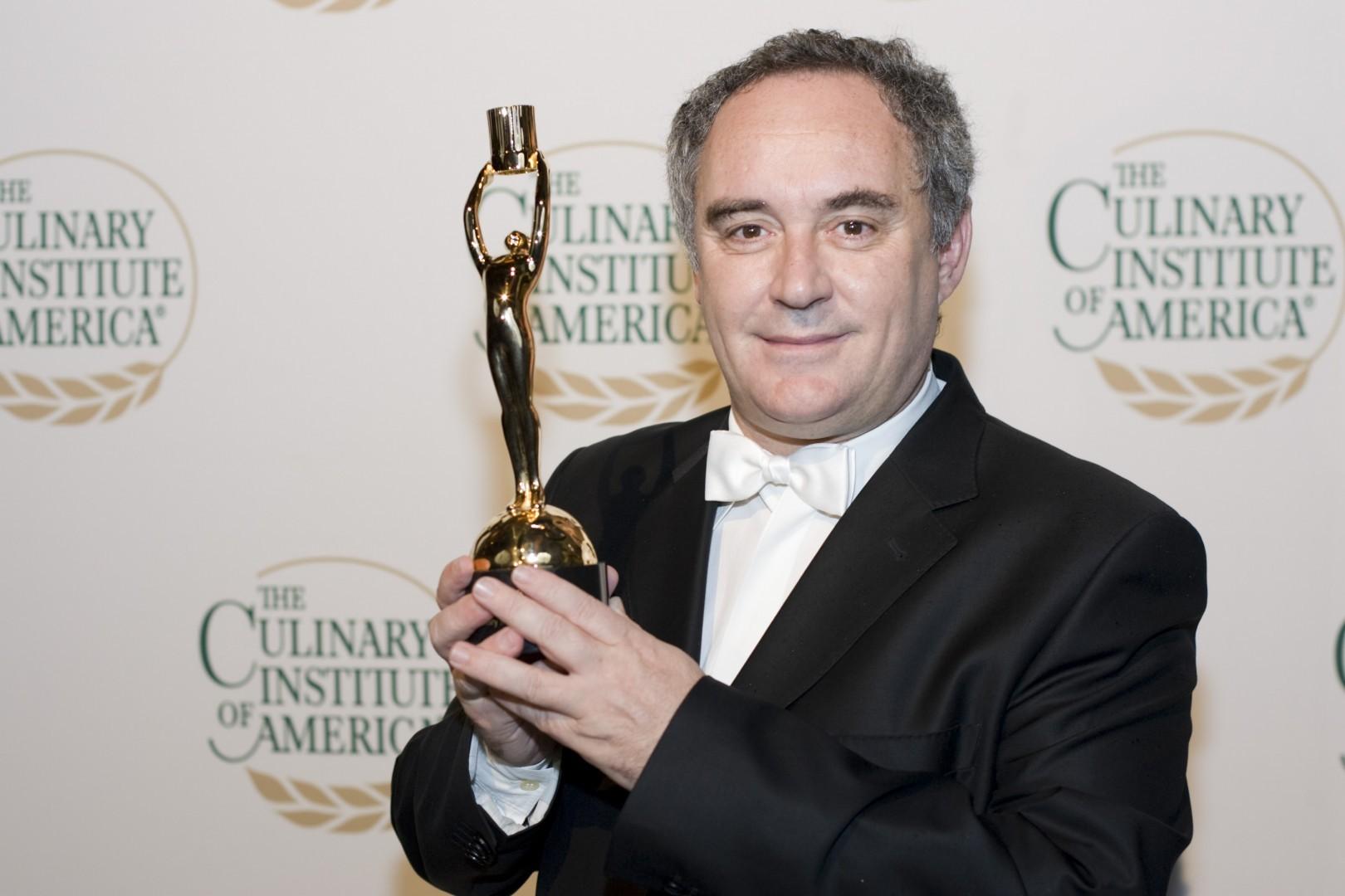 Ferran Adría premio The Culinary Institute of America