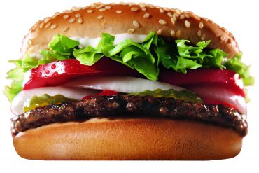 Hamburguesa whopper Burger King