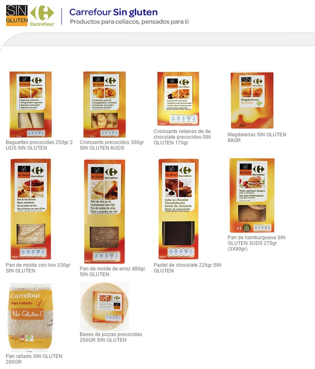 Productos para celiacos de carrefour - Alimentos sin gluten para celiacos ...