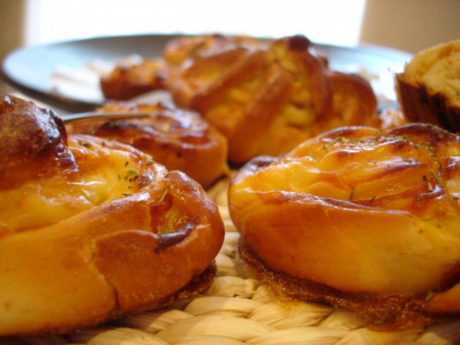 Enrollados de jamón y queso 1
