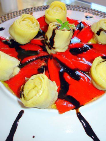 Ensalada de piquillos y alcachofas 2
