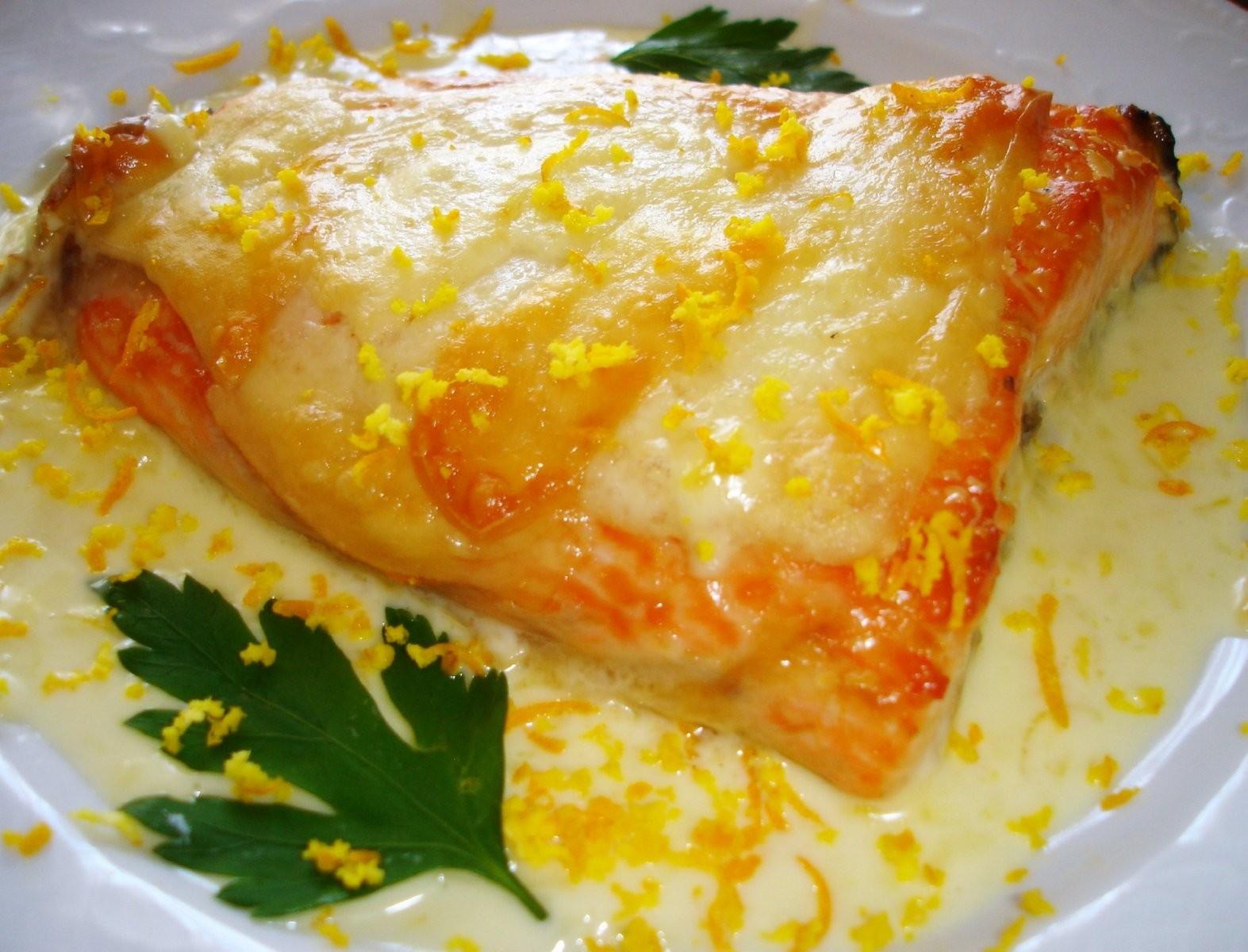 Salmón con Idiazabal en crema cítricos