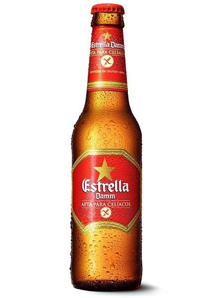 Botella Estrella Damm para Celíacos, cerveza sin gluten