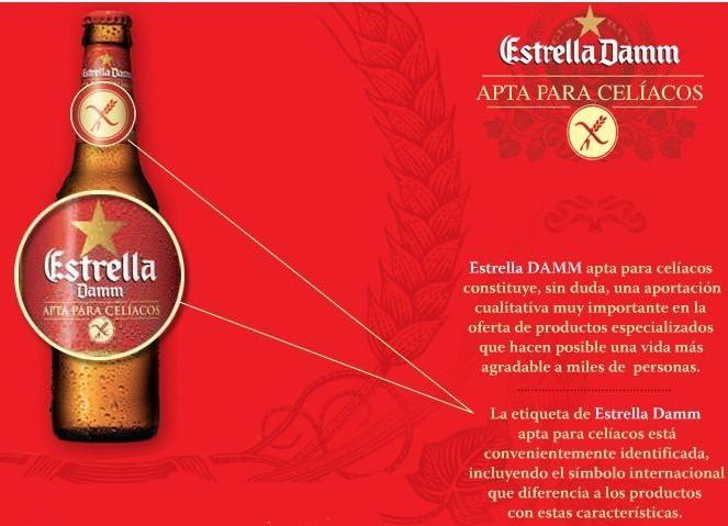 Estrella Damm para Celíacos, cerveza sin gluten
