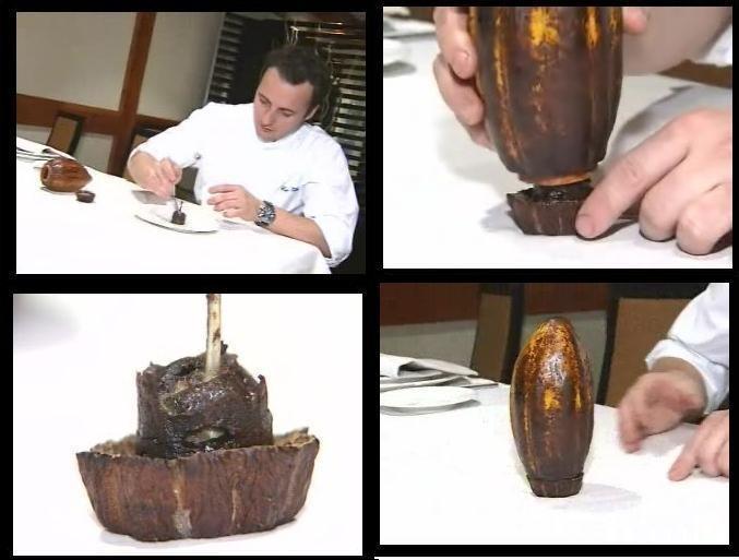 Codorniz con bizcocho de chocolate del cocinero madrileño Carlos Valentí