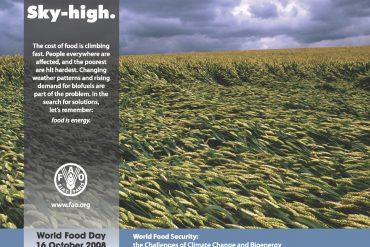 Día mundial de la Alimentación 2008 poster