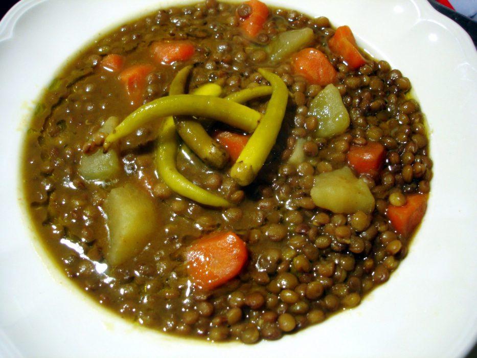 Cocinar Lentejas.Receta De Lentejas Con Verduras