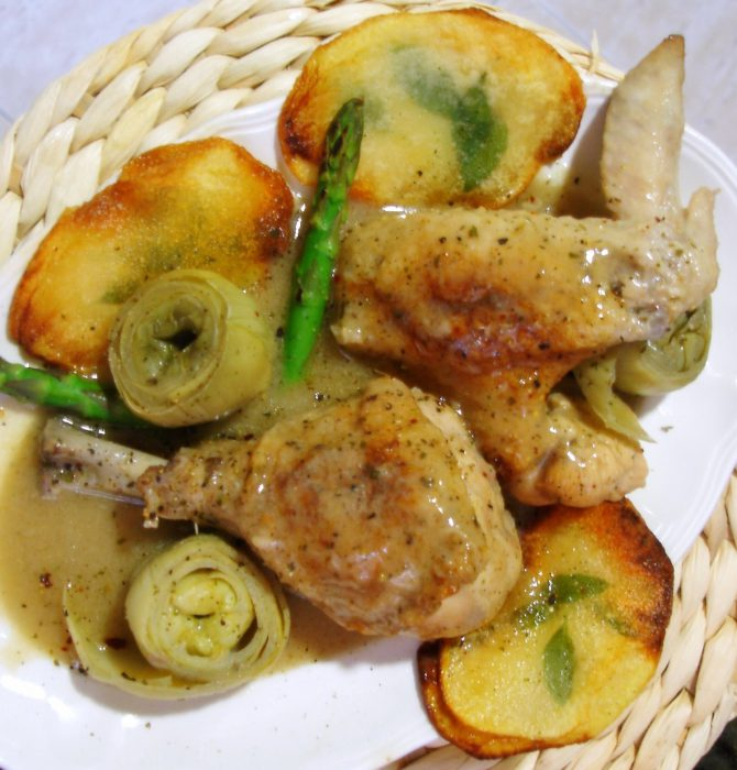 Receta de Pollo en salsa de coco