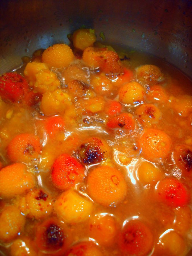 Preparación de la Mermelada o salsa de madroños