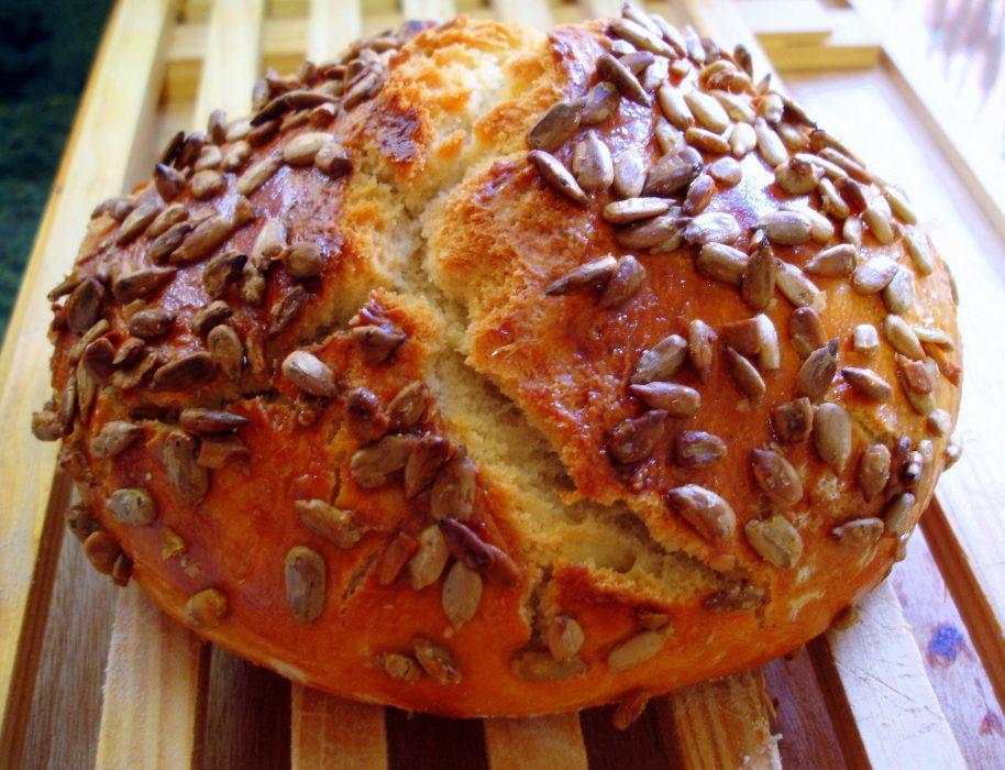 Receta de Pan fácil con pipas