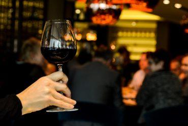 Copa de vino restaurante