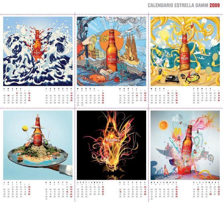 Estrella Damm el calendario 2009