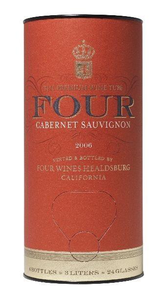 Four, vino de calidad en tubos de cartón 1