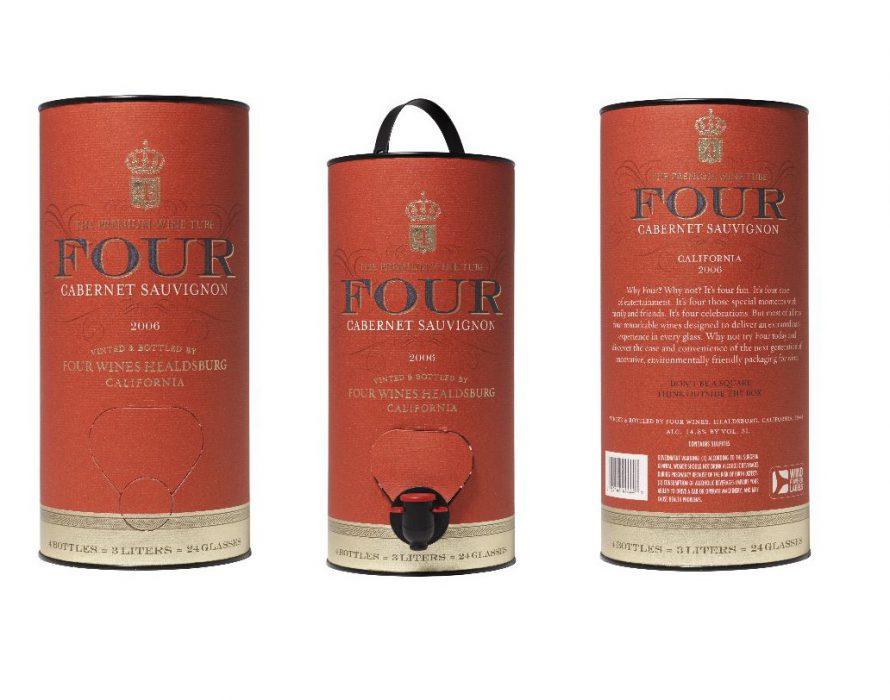 Four, vino de calidad en tubos de cartón