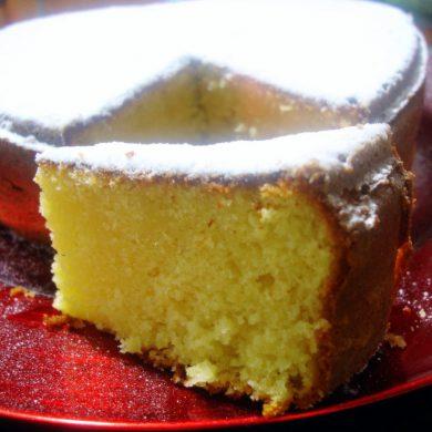 Bizcocho de queso mascarpone y mandarina