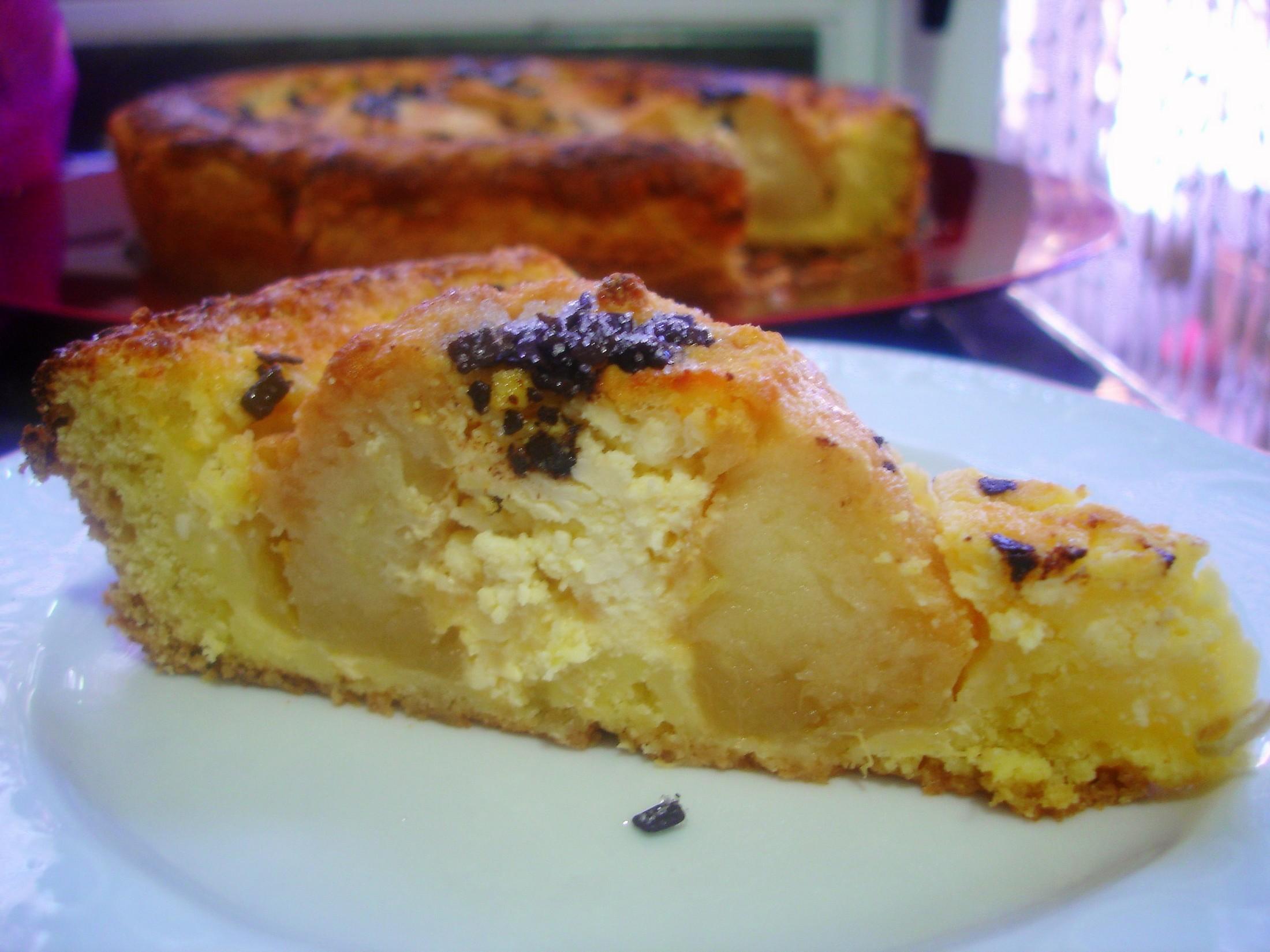 Receta de Tarta de queso y manzana reineta
