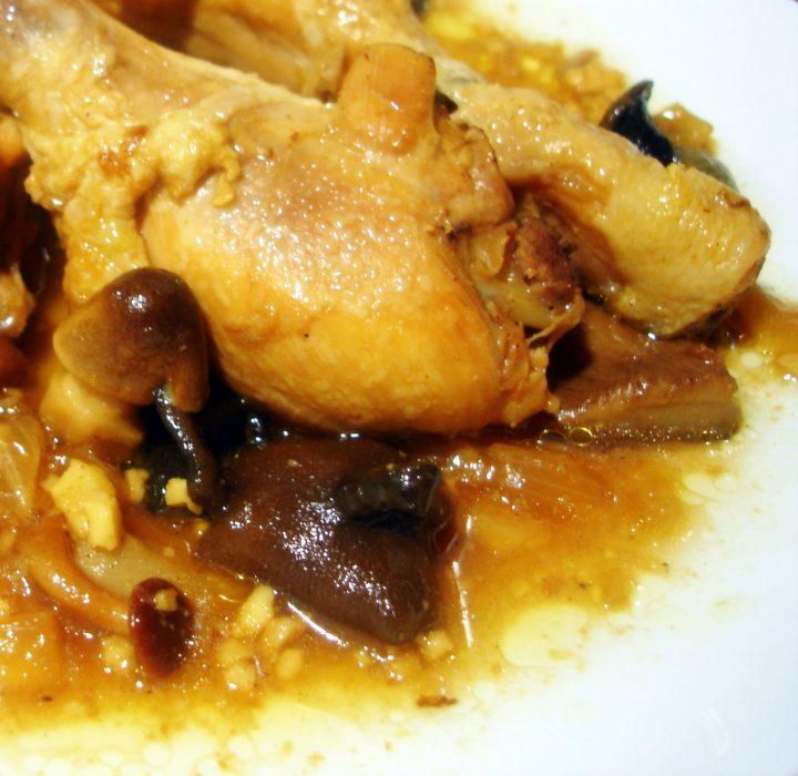 Receta de Guiso casero de pollo con setas