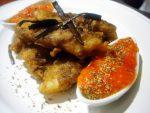 Tempura de Bacalao y espagueti de mar