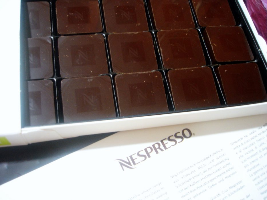 chocolates nespresso