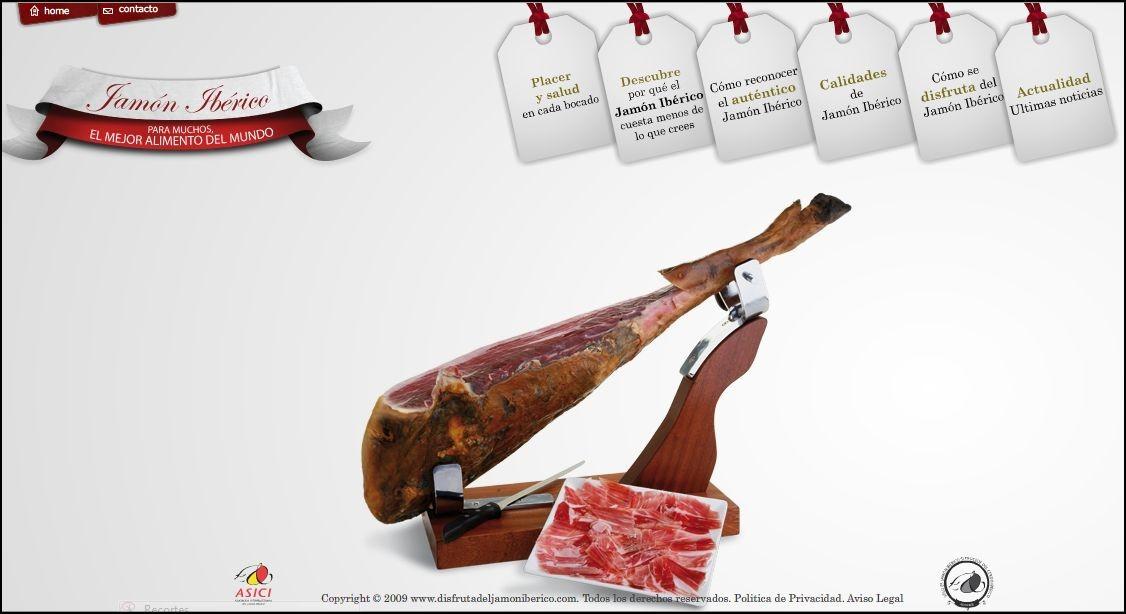 disfruta del jamon iberico