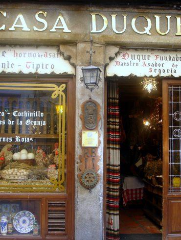 Fachada del Restaurante Casa Duque