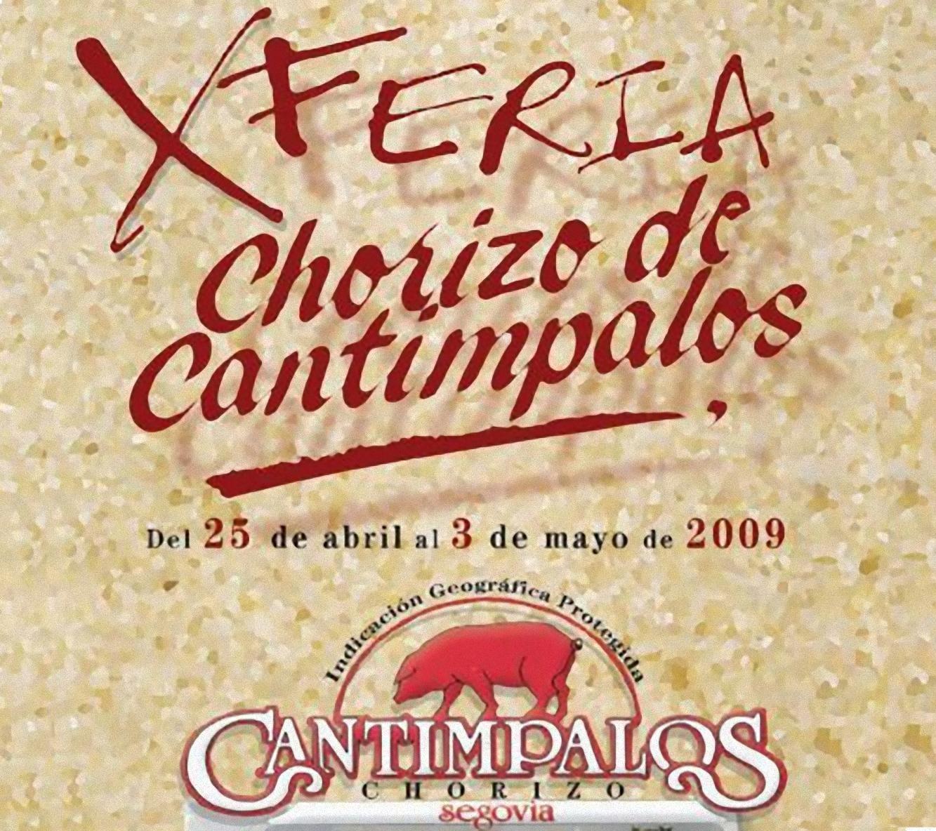 Cartel de la X Feria del Chorizo de Cantimpalos