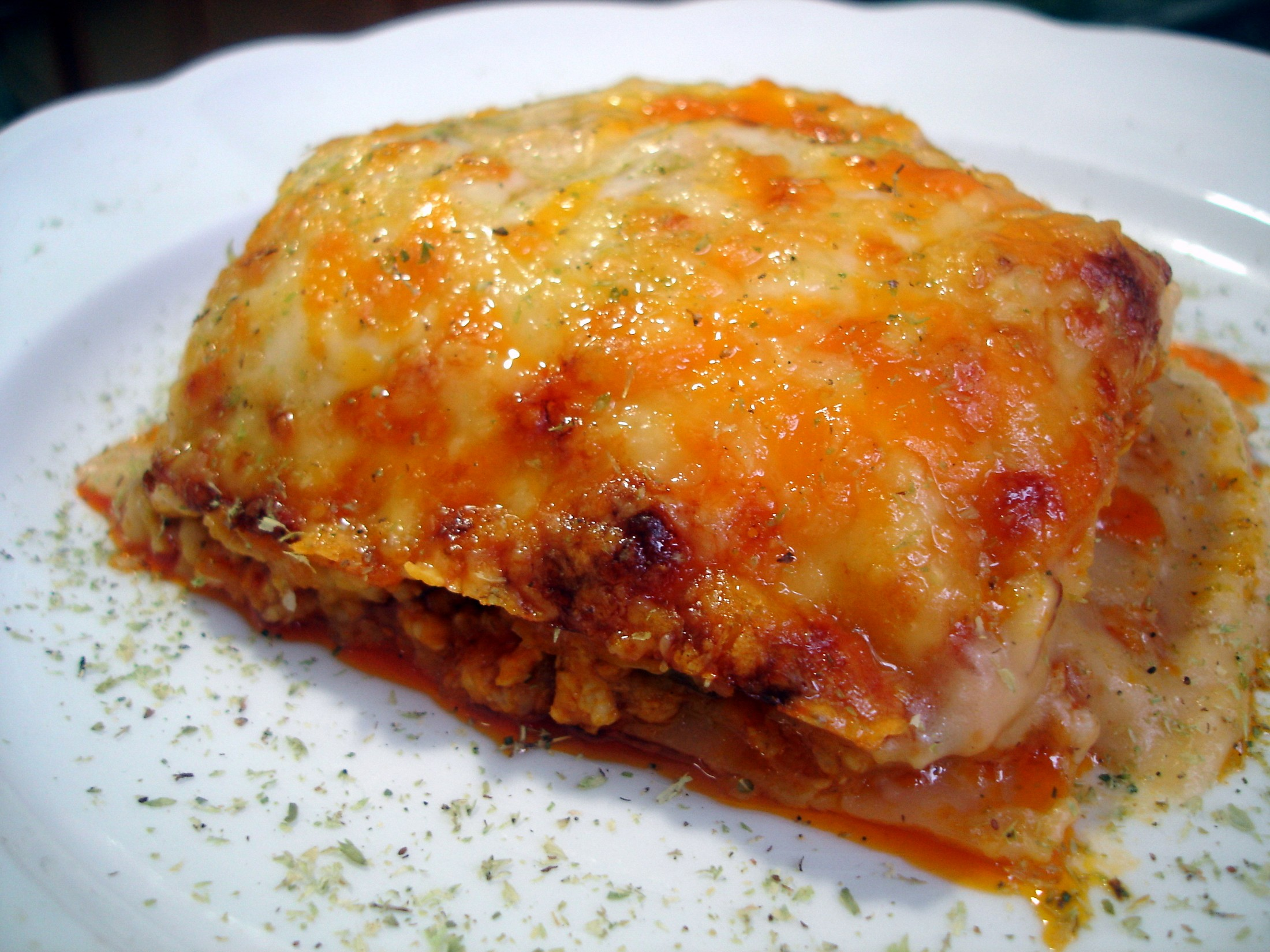 Receta de Lasaña de carne con champiñones fácil y rápida